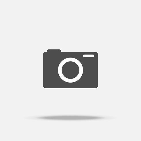 Vetor de ícone de design plano de câmera digital
