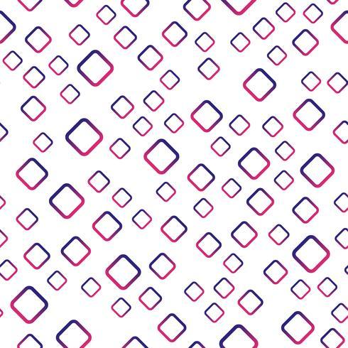 Sem costura de fundo. Conceito moderno abstrato e clássico antigo. Tema elegante design criativo geométrica. Vetor de ilustração. Cor de tom roxo e vermelho. Forma quadrada do retângulo