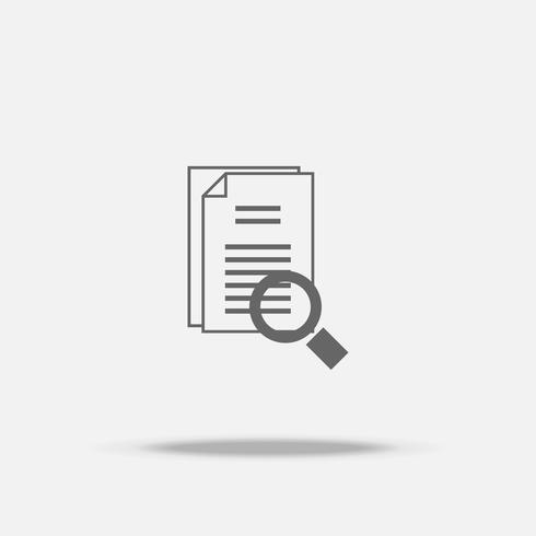 Identificar a pesquisa ícone vector design plano com sombra