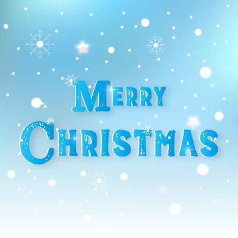 Feliz Natal nevado abstrato. Texto da bandeira e da mensagem no conceito do feriado. Tema de Natal. Design gráfico de ilustração vetorial vetor