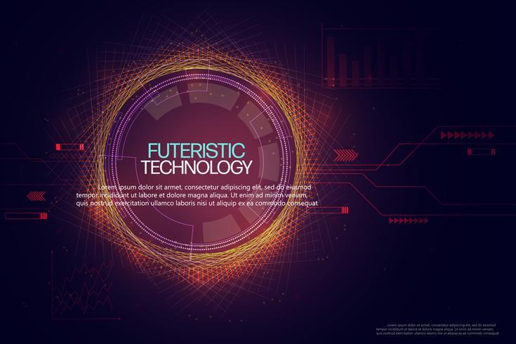 Fundo abstrato da tecnologia. vetor