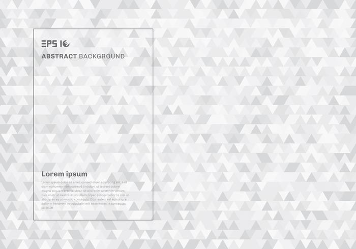 Os triângulos geométricos brancos abstratos do moderno modelam o fundo e a textura. vetor