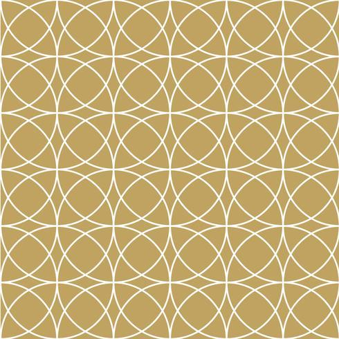 padrão de círculo de ouro elegan vetor