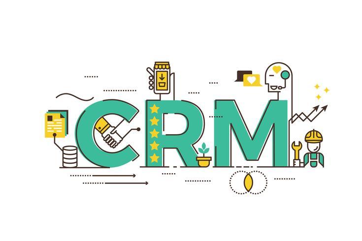 CRM: gestão de relacionamento com clientes vetor