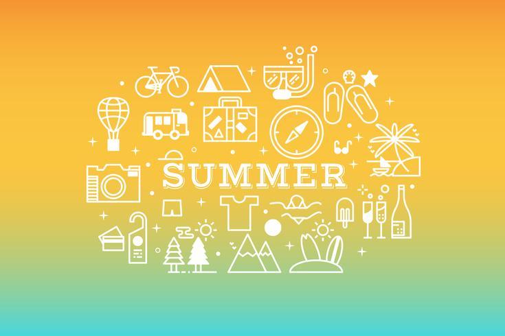 Ilustração de conceito de ícone de viagens de verão vetor