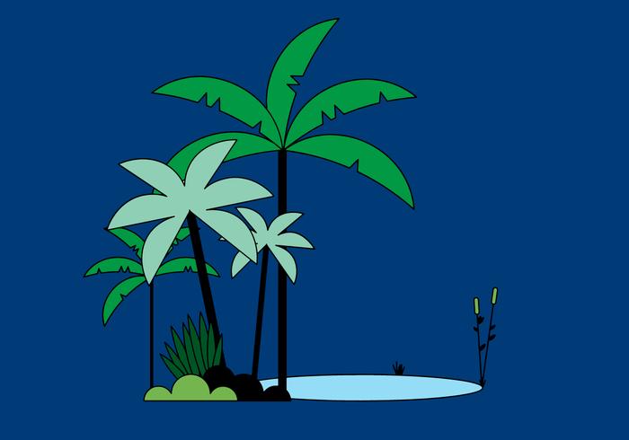 Vetor de palmeira grátis