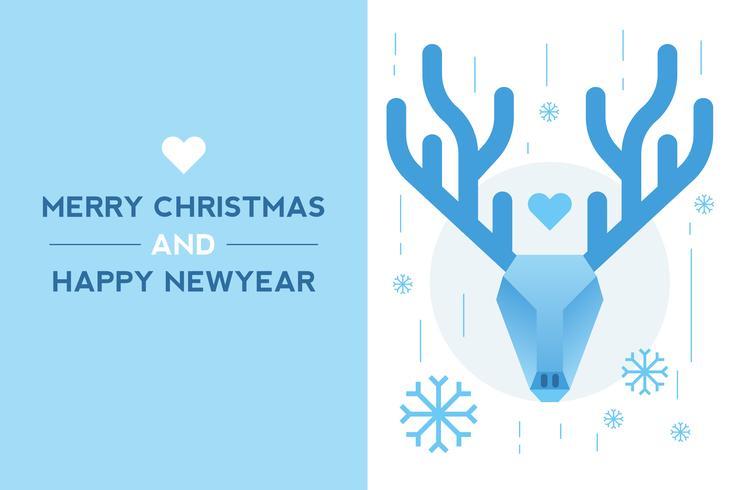 Caro cartão de ano novo vetor