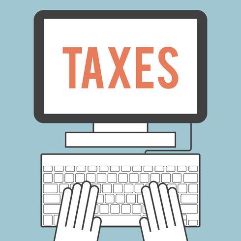 Impostos vetor
