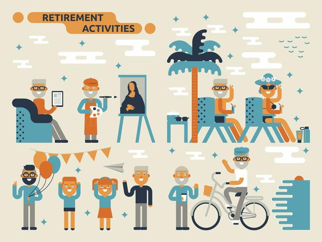 Atividades de aposentadoria vetor