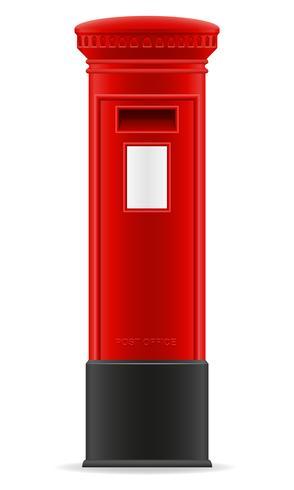 ilustração em vetor caixa de correio vermelho de Londres