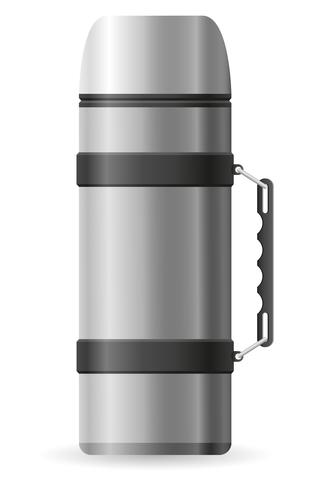 ilustração vetorial de garrafa térmica vetor