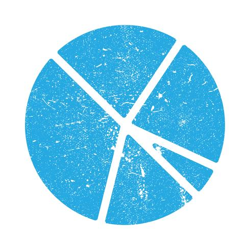Ícone de vetor de gráfico de pizza