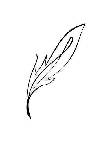 Vector silhueta estilizada da folha da árvore da mola isolada no fundo branco. Sinal de eco, rótulo de natureza. Elemento decorativo para marcas médicas e ecológicas