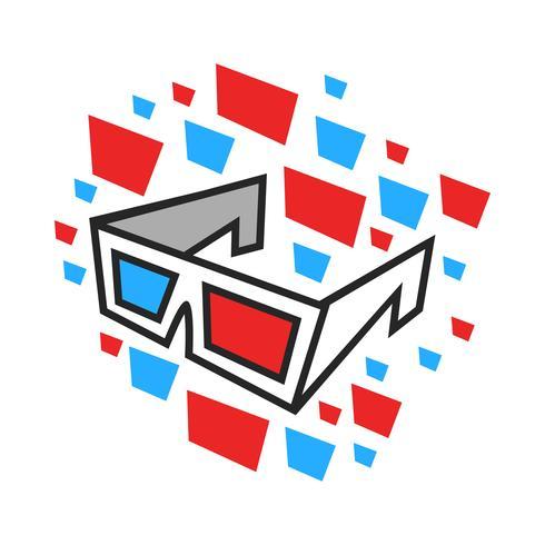 Óculos de filme 3D vetor