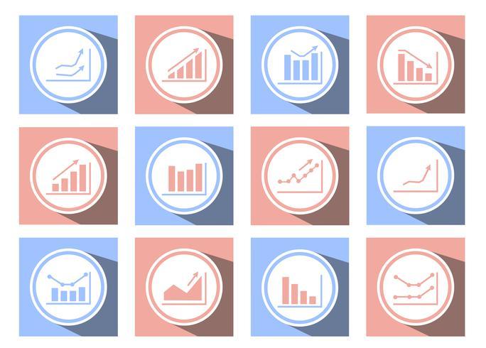 ícones de gráficos e gráficos vetor