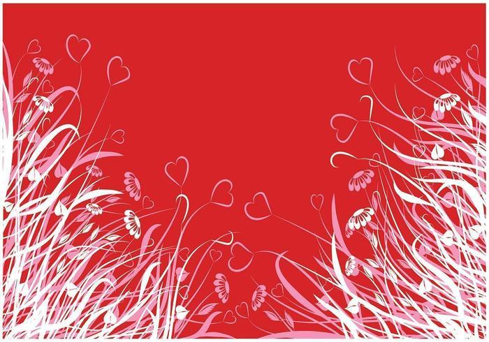 Pacote de papel de parede Vector Heart Flower