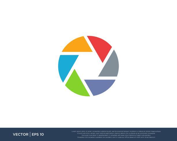 Câmera Shutter Logo Icon Vector