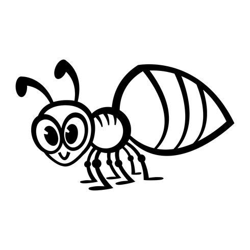 Inseto de inseto de formiga dos desenhos animados vetor
