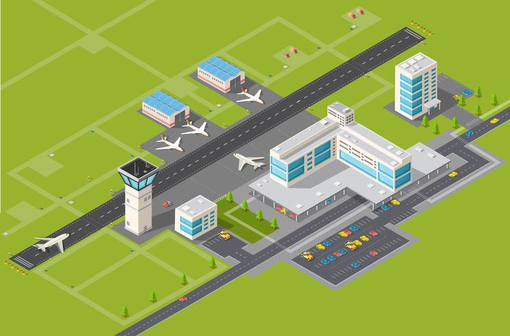 Terminal do aeroporto vetor