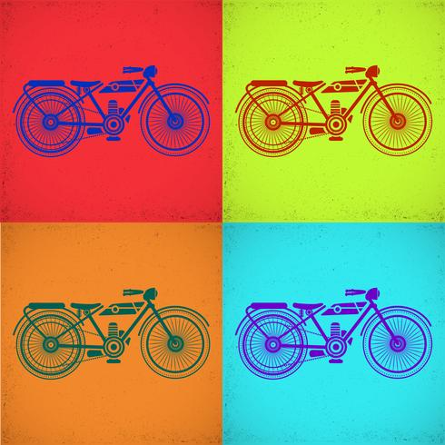Imagem da motocicleta vetor