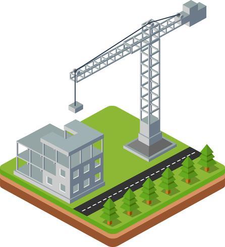 Guindastes de construção vetor