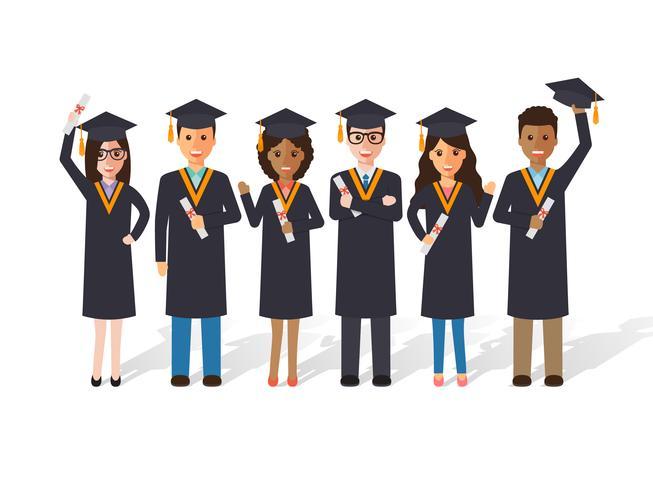 Estudantes de graduação. vetor