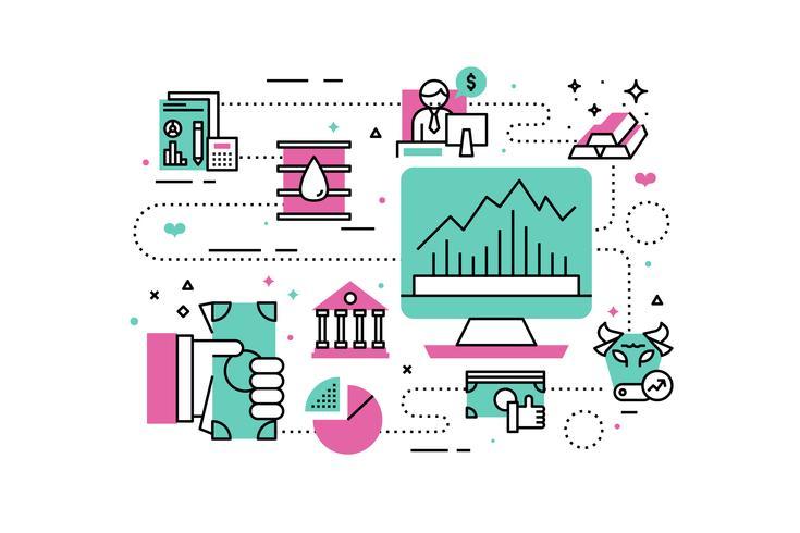 Ilustração de investimento e finanças vetor