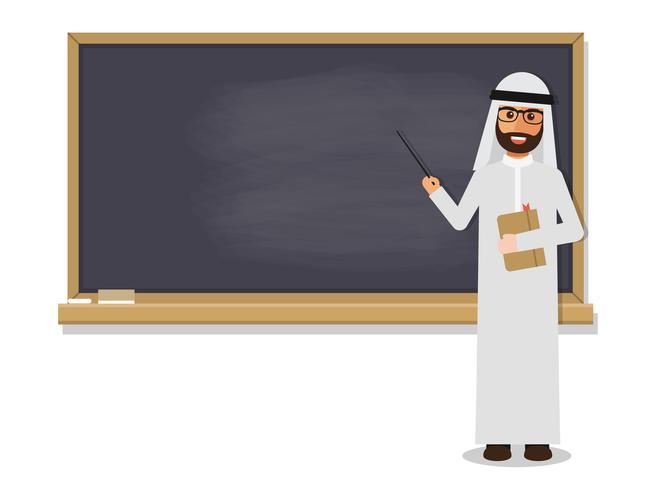 Professor árabe sênior. vetor