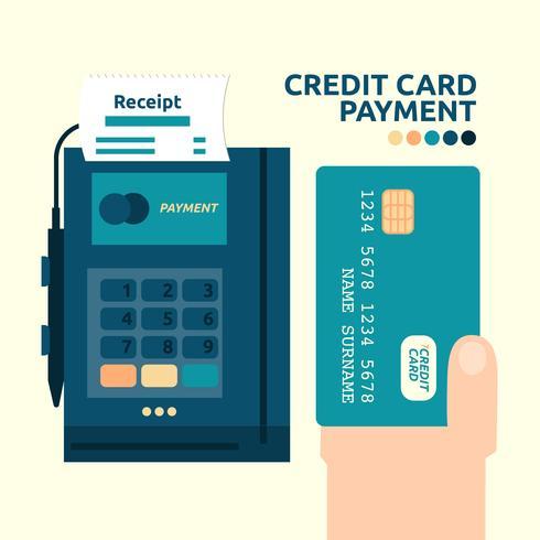 Pagamento com cartão de crédito vetor