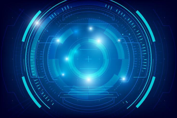 Fundo de tecnologia abstrata HUD 005 vetor