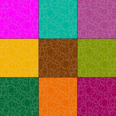 padrões de vetores de círculos de contorno sobrepostos