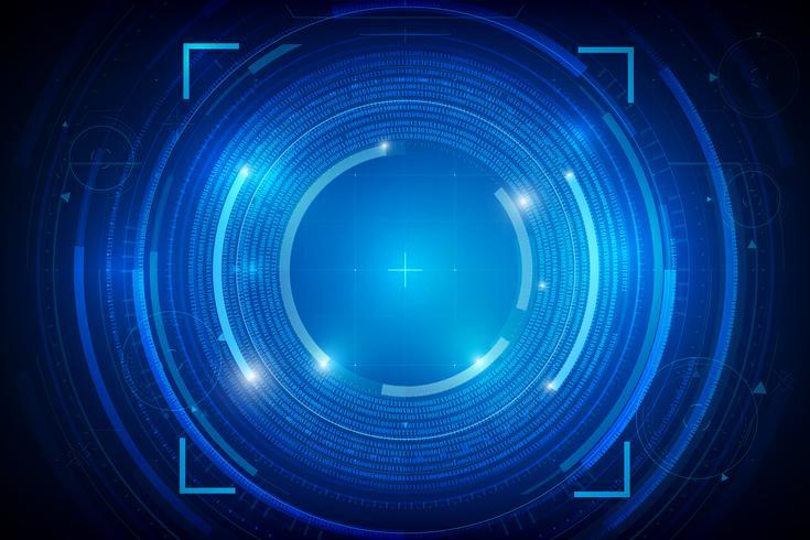 Fundo de tecnologia abstrata HUD 012 vetor