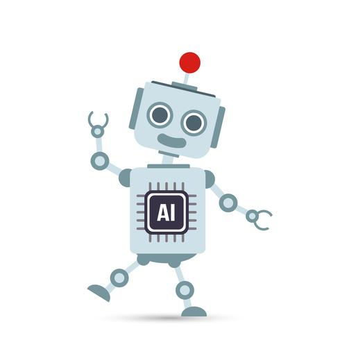 AI inteligência artificial tecnologia robô dos desenhos animados 001 vetor