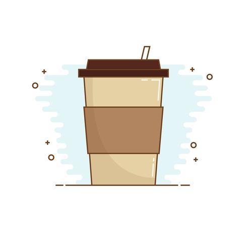 Linha arte café Design estilo. Ícone de xícara de café. vetor