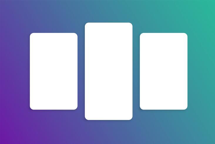 Modelo de cartão colorido para uso na web, ilustração vetorial vetor