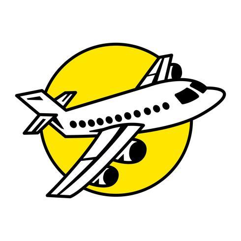 Avião voando ícone Vector