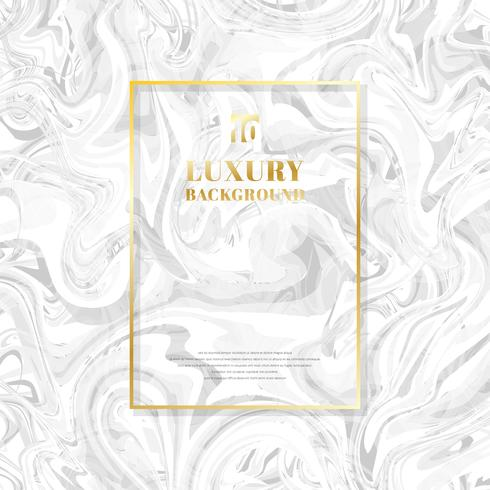 Quadro dourado do retângulo do molde no fundo e na textura de mármore brancos. Estilo de luxo. vetor