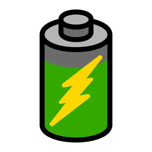 Ícone de vetor de energia da bateria