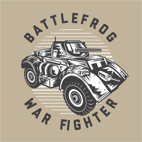 Lutador de guerra Battlefrog vetor