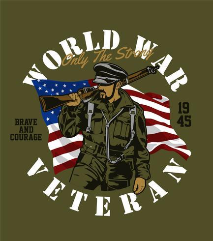 veterano da guerra mundial vetor