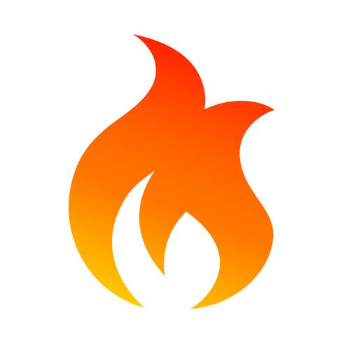 Ícone de vetor de chama