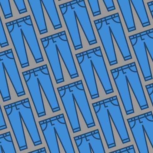 Jeans azul vetor