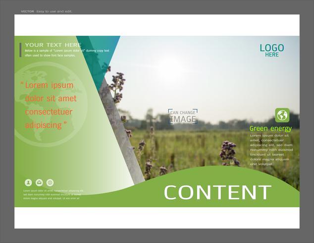 Projeto de layout de apresentação para o modelo de capa de hortaliças. vetor