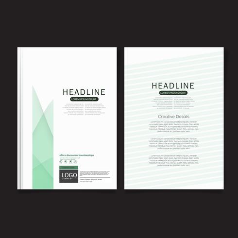 Modelo de design de capa, capa de relatório anual, folheto, apresentação, folheto. Modelo de layout de design de página frontal com sangria em tamanho A4. vetor