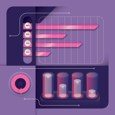 Elementos gráficos de informação 3D vetor