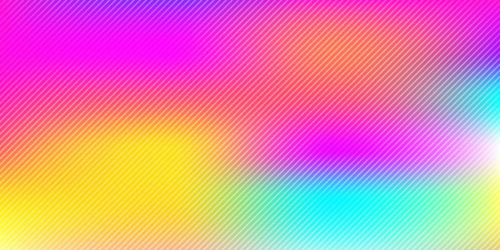 Arco-íris colorido abstrato turva fundo com textura de padrão de linhas diagonais vetor