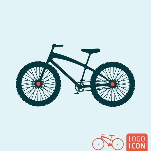 Ícone de bicicleta isolado vetor