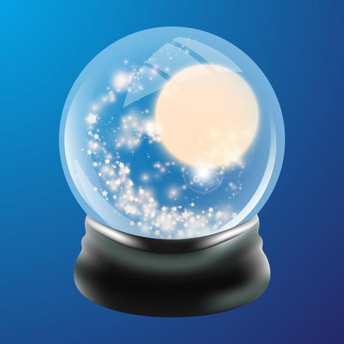 Modelo de globo de neve vetor