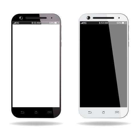 Smartphones preto e branco vetor