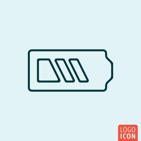 Design da linha de ícone vetor